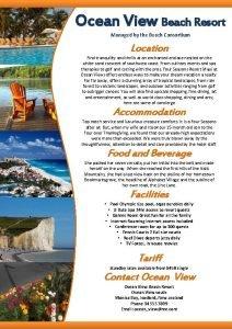 Ocean View Beach Resort Managed by the Beach