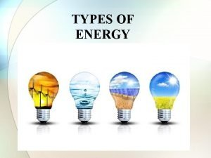 TYPES OF ENERGY Forms of Energy Foldable Definition