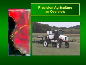 Precision Agriculture an Overview Precision Agriculture Human need