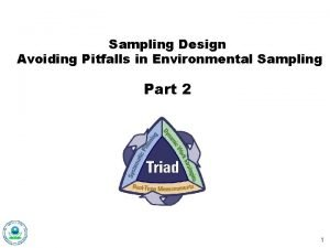 Sampling Design Avoiding Pitfalls in Environmental Sampling Part
