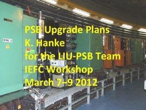 PSB Upgrade Plans K Hanke for the LIUPSB