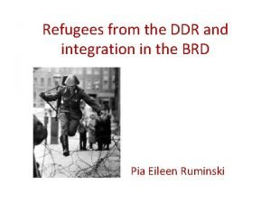 Refugees from the DDR and integration in the