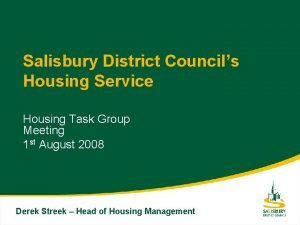 Salisbury District Councils Housing Service Housing Task Group
