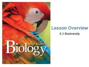 Lesson Overview Biodiversity Lesson Overview 6 3 Biodiversity