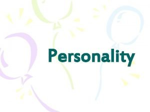 Personality Questions about personality Is personality innate or