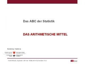 Das ABC der Statistik DAS ARITHMETISCHE MITTEL bersetzung