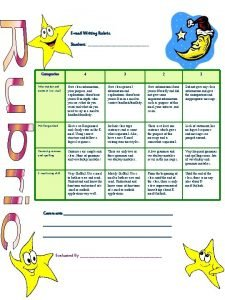 Email Writing Rubric Student Student Categories 4 3