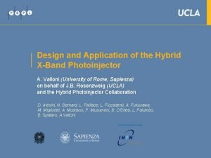Design and Application of the Hybrid XBand Photoinjector