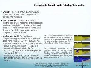 DMR 1451219 Ferroelastic Domain Walls Spring Into Action