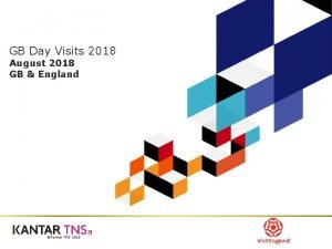GB Day Visits 2018 August 2018 GB England