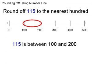 Rounding Off Using Number Line Round off 115