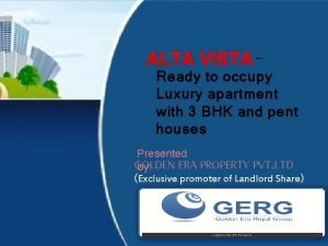 ALTA VISTA Ready to occupy Luxury apartment with