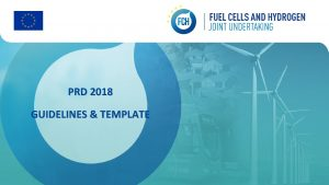 PRD 2018 GUIDELINES TEMPLATE GENERAL GUIDELINES Content The