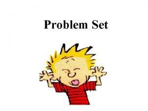Problem Set Directions 1 Put away you pen