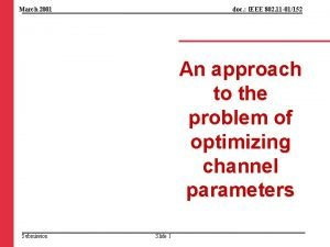 March 2001 doc IEEE 802 11 01152 An