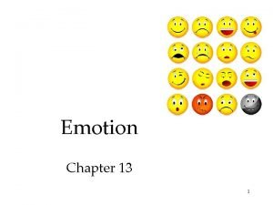 Emotion Chapter 13 1 Emotions are our bodys
