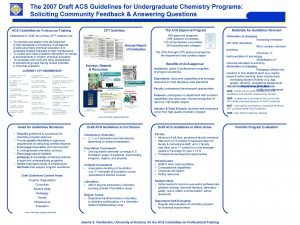 The 2007 Draft ACS Guidelines for Undergraduate Chemistry