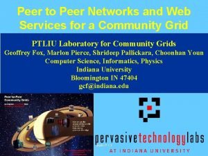 Peer to Peer Networks and Web Services for