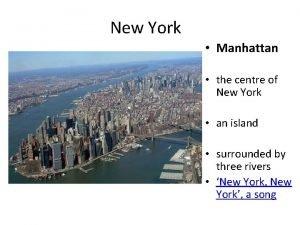 New York Manhattan the centre of New York