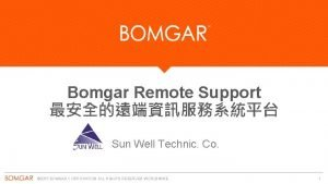 Bomgar Remote Support Sun Well Technic Co 2015