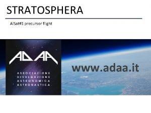 STRATOSPHERA ADAA Associazione per la divulgazione Astronomica e