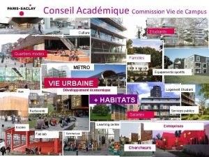 Conseil Acadmique Commission Vie de Campus Etudiants Culture