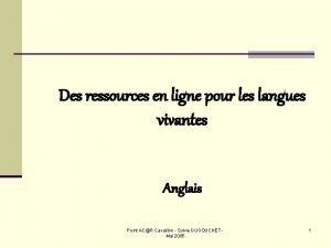 Des ressources en ligne pour les langues vivantes