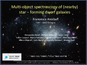 Multiobject spectroscopy of nearby star forming dwarf galaxies