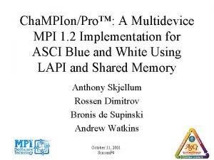Cha MPIonPro A Multidevice MPI 1 2 Implementation