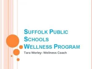 SUFFOLK PUBLIC SCHOOLS WELLNESS PROGRAM Tara Worley Wellness