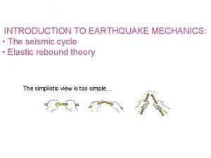 INTRODUCTION TO EARTHQUAKE MECHANICS The seismic cycle Elastic