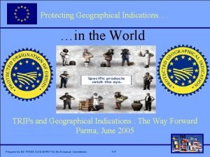 Protecting Geographical Indications Click to edit Master title