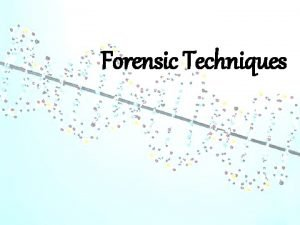 Forensic Techniques Video http www youtube comwatch vwbw