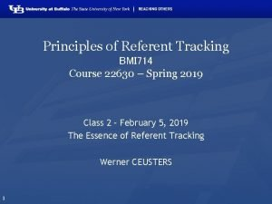Principles of Referent Tracking BMI 714 Course 22630
