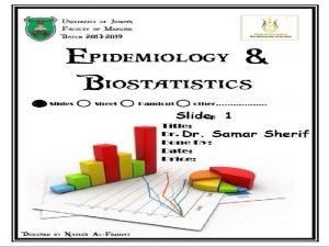 Epidemiology of Chronic diseases Non communicable diseases Chronic