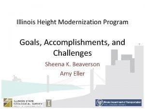 Illinois Height Modernization Program Goals Accomplishments and Challenges