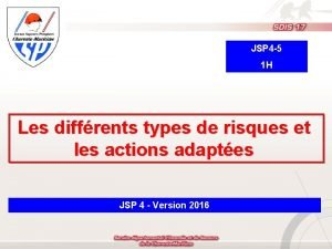 JSP 4 5 1 H Les diffrents types