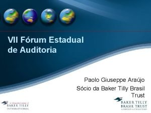 VII Frum Estadual de Auditoria Paolo Giuseppe Arajo