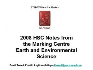 STANSW Meet the Markers 2008 HSC Notes from