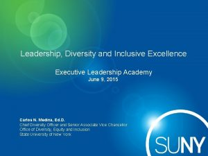 Leadership Diversity and Inclusive Excellence Executive Leadership Academy