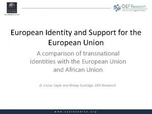 European Identity and Support for the European Union