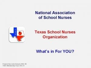 National Association of School Nurses Texas School Nurses