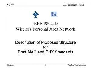 July 1999 doc IEEE 802 15 99042 r