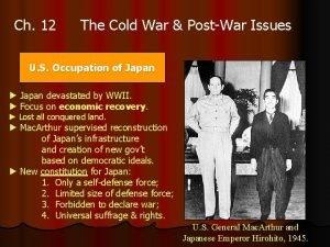 Ch 12 The Cold War PostWar Issues U