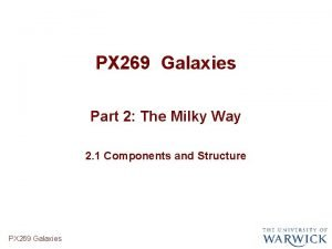 PX 269 Galaxies Part 2 The Milky Way