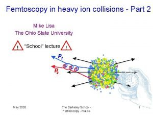 Femtoscopy in heavy ion collisions Part 2 Mike