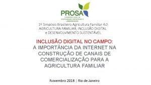 1 Simpsio Brasileiro Agricultura Familiar 4 0 AGRICULTURA