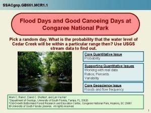 SSACgnp GB 661 MCR 1 1 Flood Days