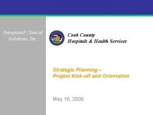 Integrated Clinical Solutions Inc Cook County Hospitals Health