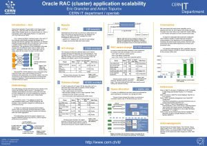 Oracle RAC cluster application scalability Eric Grancher and